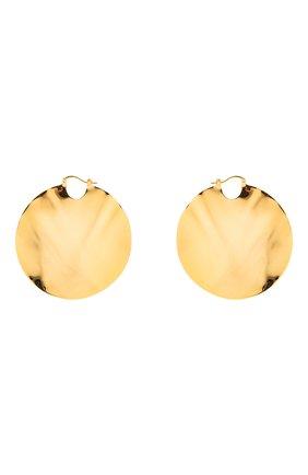 Женские серьги JIL SANDER золотого цвета, арт. JSWS837158/WSS80045 | Фото 1