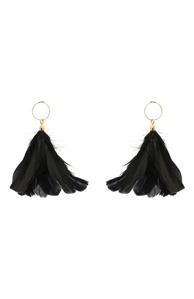 Женские серьги JIL SANDER черного цвета, арт. JSWS836141/WSS80053 | Фото 1