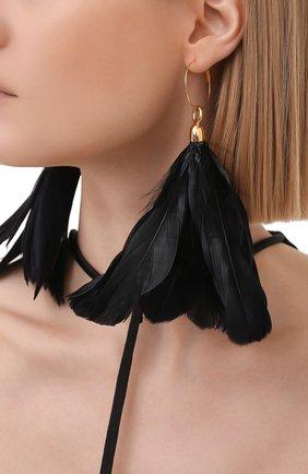 Женские серьги JIL SANDER черного цвета, арт. JSWS836141/WSS80053 | Фото 2