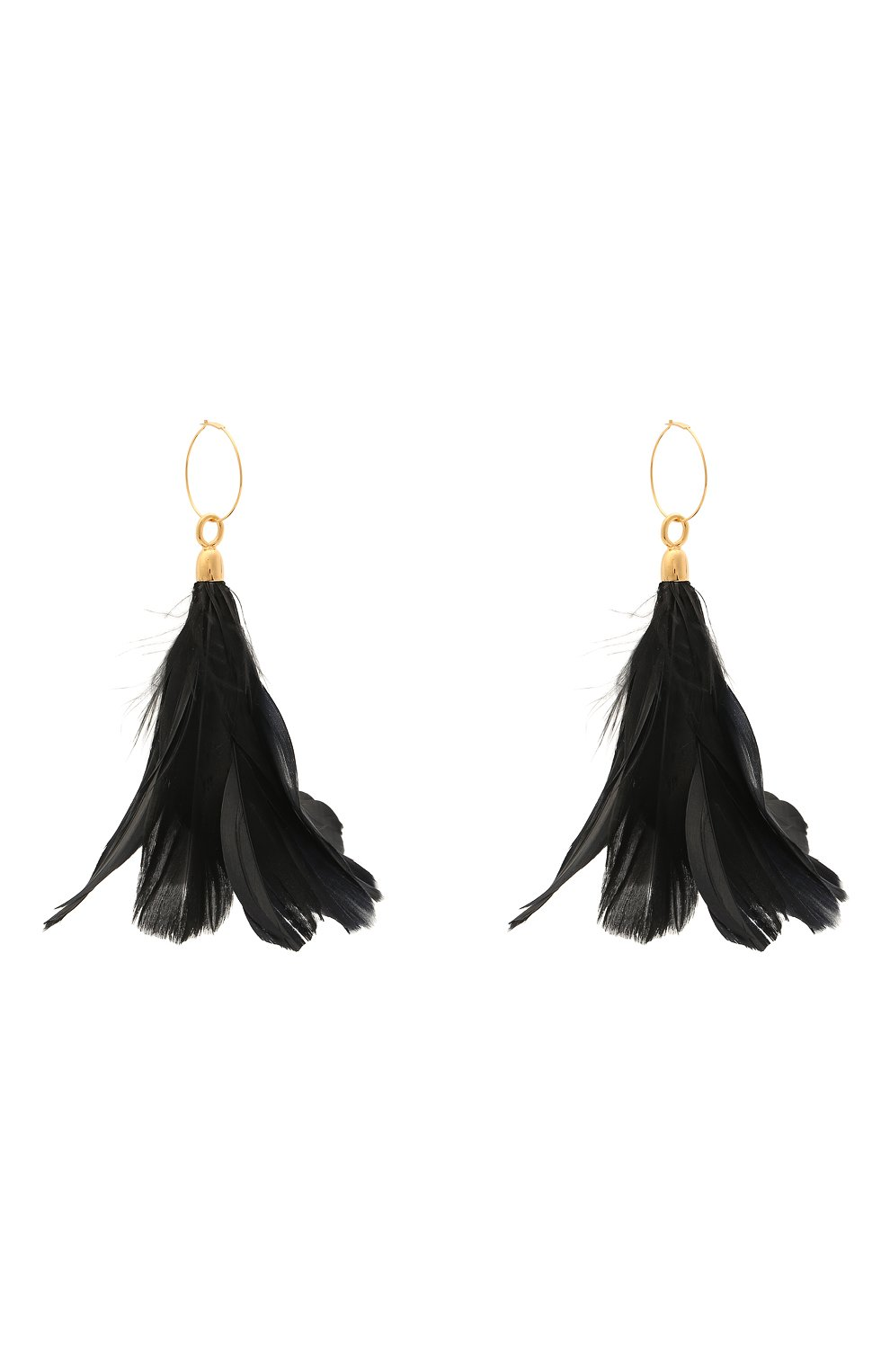 Женские серьги JIL SANDER черного цвета, арт. JSWS836141/WSS80053 | Фото 3