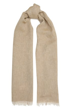 Мужской льняной шарф CORNELIANI бежевого цвета, арт. 87B229-1129018/00 | Фото 1