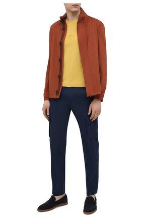 Мужская хлопковая футболка CORNELIANI желтого цвета, арт. 87G574-1125047/00 | Фото 2