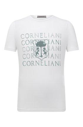 Мужская хлопковая футболка CORNELIANI белого цвета, арт. 87G577-1125040/00 | Фото 1