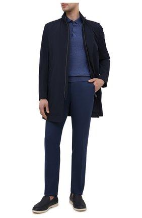 Мужское поло из хлопка и кашемира CORNELIANI синего цвета, арт. 87M536-1125108/00   Фото 2