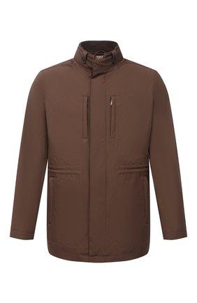Мужская утепленная куртка CORNELIANI коричневого цвета, арт. 8725Q5-1120149/00   Фото 1