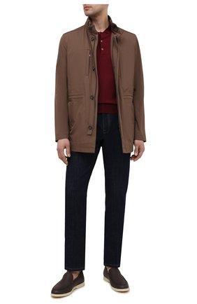 Мужская утепленная куртка CORNELIANI коричневого цвета, арт. 8725Q5-1120149/00   Фото 2