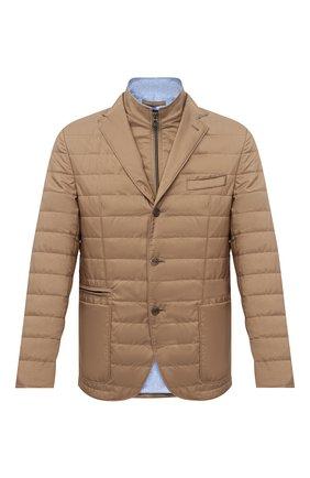Мужская утепленная куртка CORNELIANI бежевого цвета, арт. 876S24-1113051/00 | Фото 1