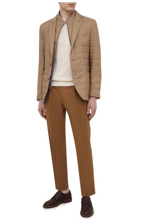 Мужская утепленная куртка CORNELIANI бежевого цвета, арт. 876S24-1113051/00 | Фото 2