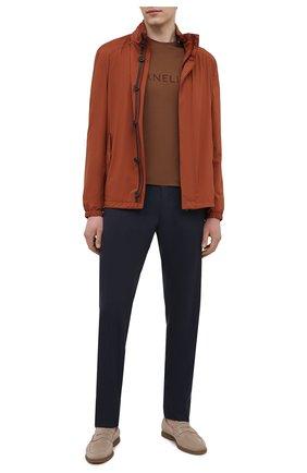 Мужская куртка CORNELIANI коричневого цвета, арт. 87L5Q1-1120148/00   Фото 2