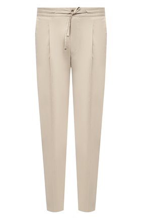 Мужские хлопковые брюки CORNELIANI светло-бежевого цвета, арт. 874L03-1114504/00 | Фото 1