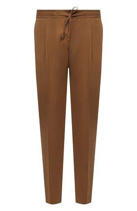 Мужские хлопковые брюки CORNELIANI коричневого цвета, арт. 874L03-1114504/00   Фото 1