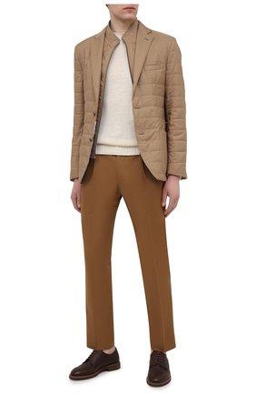 Мужские хлопковые брюки CORNELIANI коричневого цвета, арт. 874L03-1114504/00   Фото 2