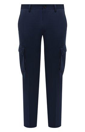 Мужские брюки-карго из хлопка и кашемира CORNELIANI темно-синего цвета, арт. 874L02-1114105/00 | Фото 1 (Материал внешний: Хлопок; Силуэт М (брюки): Карго; Длина (брюки, джинсы): Стандартные; Случай: Повседневный; Стили: Кэжуэл)