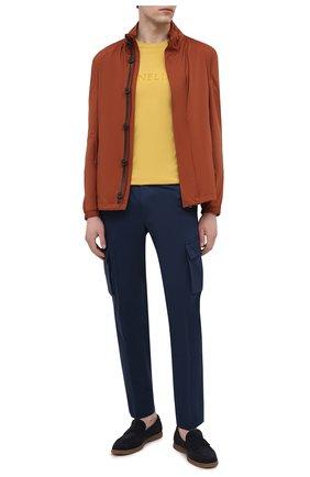 Мужские брюки-карго из хлопка и кашемира CORNELIANI темно-синего цвета, арт. 874L02-1114105/00 | Фото 2 (Материал внешний: Хлопок; Силуэт М (брюки): Карго; Длина (брюки, джинсы): Стандартные; Случай: Повседневный; Стили: Кэжуэл)