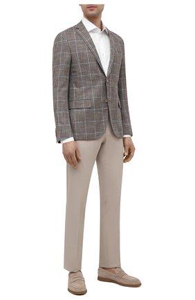 Мужские брюки из хлопка и кашемира CORNELIANI светло-бежевого цвета, арт. 874B05-1114105/02 | Фото 2