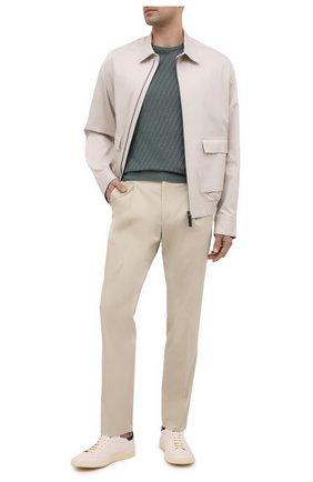 Мужские кожаные кеды kareem OFFICINE CREATIVE кремвого цвета, арт. KAREEM/005/GIAN0 REF | Фото 2