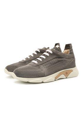 Мужские замшевые кроссовки MOMA серого цвета, арт. 4AS018-T0 | Фото 1