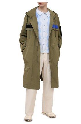 Мужские кожаные лоферы MOMA бежевого цвета, арт. 2FS111-C0   Фото 2