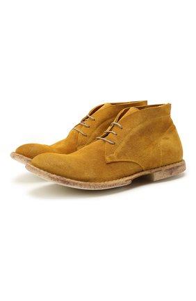 Мужские замшевые ботинки MOMA желтого цвета, арт. 2BS115-WA   Фото 1