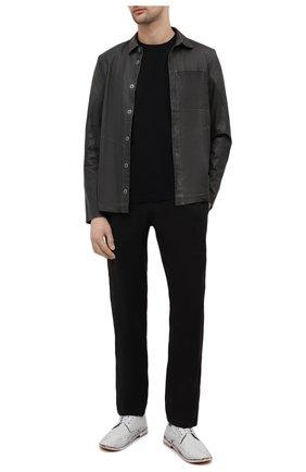 Мужские кожаные дерби MOMA белого цвета, арт. 2AS045-P0 | Фото 2