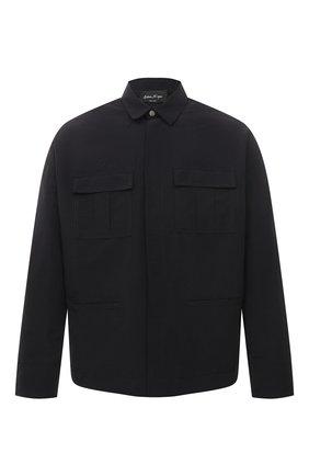 Мужская куртка изо льна и хлопка ANDREA YA'AQOV черного цвета, арт. 21MFAB30 | Фото 1