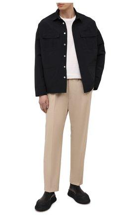 Мужская куртка изо льна и хлопка ANDREA YA'AQOV черного цвета, арт. 21MFAB30 | Фото 2