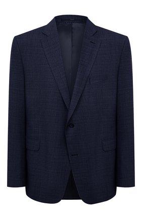 Мужской шерстяной пиджак EDUARD DRESSLER синего цвета, арт. 7001/21001 | Фото 1 (Стили: Классический; 1-2-бортные: Однобортные; Материал подклада: Купро; Длина (для топов): Стандартные; Материал внешний: Шерсть; Big sizes: Big Sizes; Рукава: Длинные; Пиджаки М: Прямой; Случай: Коктейльный)