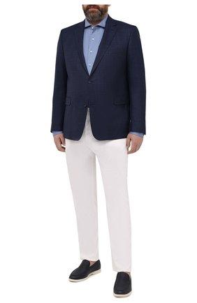 Мужской шерстяной пиджак EDUARD DRESSLER синего цвета, арт. 7001/21001 | Фото 2