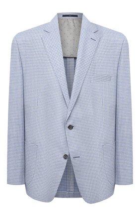 Мужской пиджак из шерсти и шелка EDUARD DRESSLER голубого цвета, арт. 7051/21040 | Фото 1