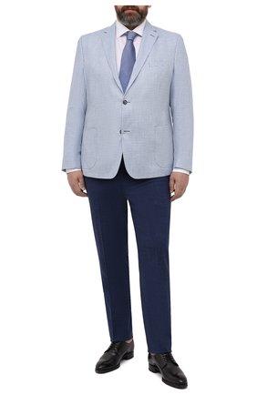 Мужской пиджак из шерсти и шелка EDUARD DRESSLER голубого цвета, арт. 7051/21040 | Фото 2