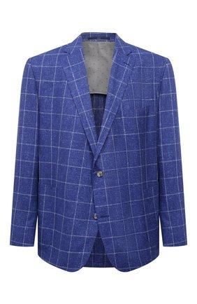 Мужской пиджак из шерсти и шелка EDUARD DRESSLER темно-синего цвета, арт. 7051/21034 | Фото 1