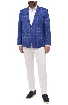 Мужской пиджак из шерсти и шелка EDUARD DRESSLER темно-синего цвета, арт. 7051/21034 | Фото 2