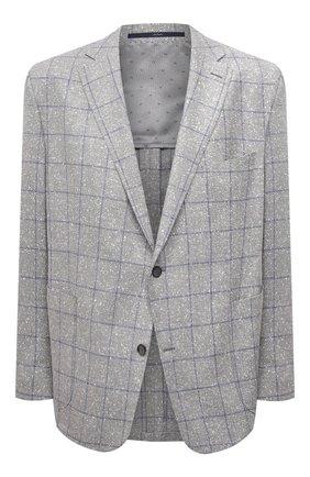 Мужской пиджак из шерсти и шелка EDUARD DRESSLER серого цвета, арт. 7051/21034 | Фото 1
