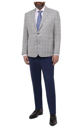 Мужской пиджак из шерсти и шелка EDUARD DRESSLER серого цвета, арт. 7051/21034 | Фото 2
