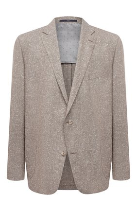 Мужской пиджак из шерсти и шелка EDUARD DRESSLER бежевого цвета, арт. 7051/21033 | Фото 1