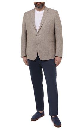 Мужской пиджак из шерсти и шелка EDUARD DRESSLER бежевого цвета, арт. 7051/21033 | Фото 2