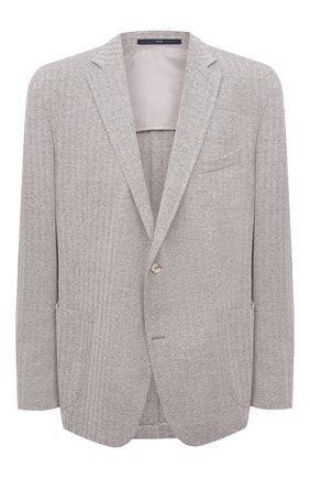Мужской пиджак из хлопка и льна EDUARD DRESSLER светло-бежевого цвета, арт. 7301/21J00 | Фото 1