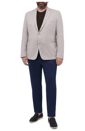 Мужской пиджак из хлопка и льна EDUARD DRESSLER светло-бежевого цвета, арт. 7301/21J00 | Фото 2