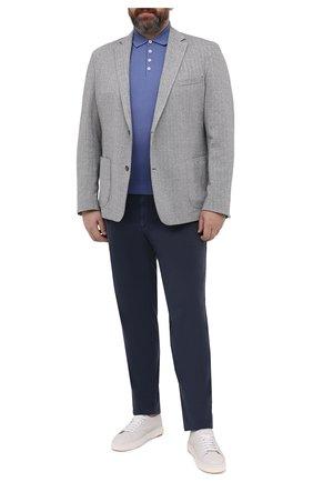 Мужской пиджак из хлопка и льна EDUARD DRESSLER серого цвета, арт. 7301/21J00 | Фото 2