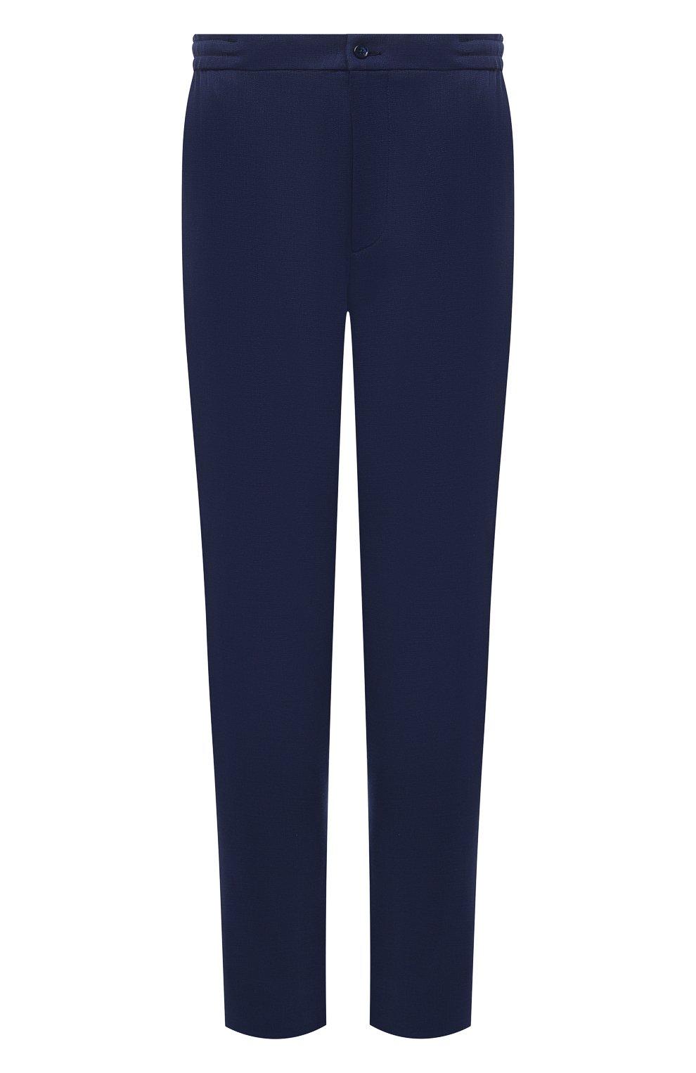 Мужские шерстяные брюки MARCO PESCAROLO синего цвета, арт. CHIAIAM/4328 | Фото 1 (Big sizes: Big Sizes; Материал внешний: Шерсть; Длина (брюки, джинсы): Стандартные; Стили: Классический; Случай: Формальный)