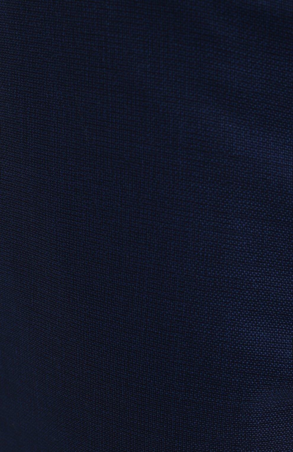 Мужские шерстяные брюки MARCO PESCAROLO синего цвета, арт. CHIAIAM/4328 | Фото 5 (Big sizes: Big Sizes; Материал внешний: Шерсть; Длина (брюки, джинсы): Стандартные; Стили: Классический; Случай: Формальный)