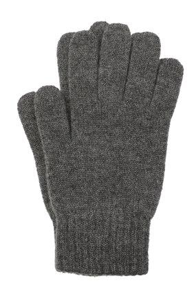 Мужские кашемировые перчатки JOHNSTONS OF ELGIN темно-серого цвета, арт. HAY01001 | Фото 1 (Материал: Кашемир, Шерсть; Кросс-КТ: Трикотаж)