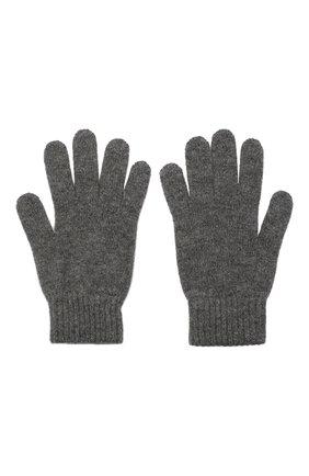 Мужские кашемировые перчатки JOHNSTONS OF ELGIN темно-серого цвета, арт. HAY01001 | Фото 2 (Материал: Кашемир, Шерсть; Кросс-КТ: Трикотаж)