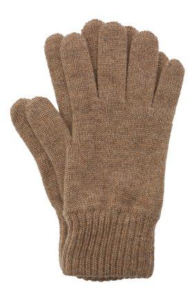 Мужские кашемировые перчатки JOHNSTONS OF ELGIN темно-бежевого цвета, арт. HAY01001 | Фото 1 (Материал: Кашемир, Шерсть; Кросс-КТ: Трикотаж)