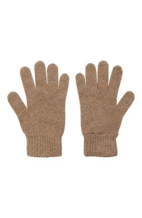Мужские кашемировые перчатки JOHNSTONS OF ELGIN темно-бежевого цвета, арт. HAY01001 | Фото 2 (Материал: Кашемир, Шерсть; Кросс-КТ: Трикотаж)