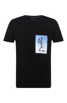 Мужская хлопковая футболка RELIGION черного цвета, арт. 11BCEN96   Фото 1