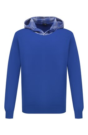 Мужской хлопковый джемпер KITON синего цвета, арт. UK1259 | Фото 1