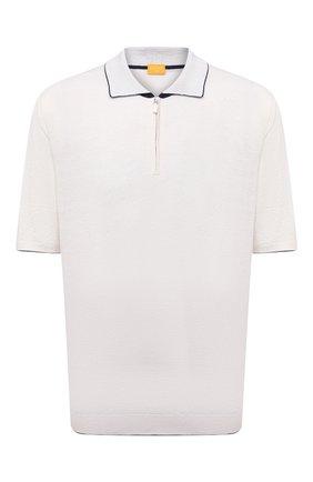 Мужское поло из шелка и льна SVEVO белого цвета, арт. 6405SE21L/MP64 | Фото 1