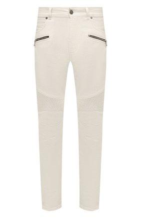 Мужские джинсы BALMAIN белого цвета, арт. VH0MG005/032D | Фото 1