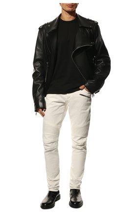 Мужские джинсы BALMAIN белого цвета, арт. VH0MG005/032D | Фото 2